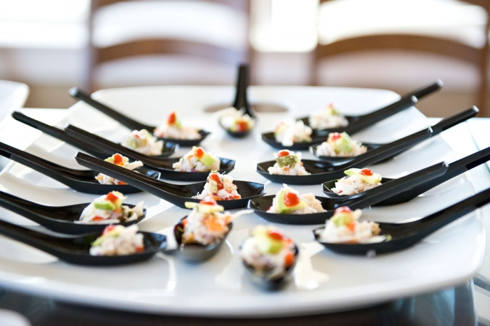 We'll be serving up our delicious Blue Crab Ceviche with Avocado & Asian Chili Sauce - don't miss it!