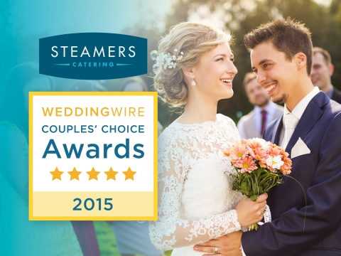 Steamers Catering receives a 2015 WeddingWire Couples' Choice Award!