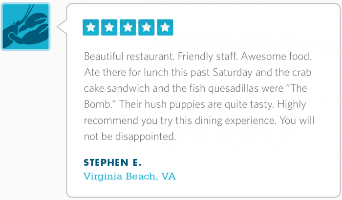 Thanks, Stephen! We pride ourselves on our hushpuppies.
